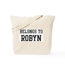 Belongs to Robyn Tote Bag
