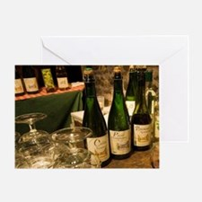 Calvados tasting in the cellar of Pa Greeting Card