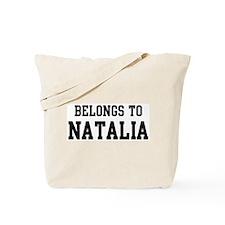 Belongs to Natalia Tote Bag