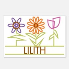 LILITH-cute-flowers Postcards (Package of 8)
