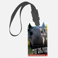 MaytheHorseCafe1-card Luggage Tag