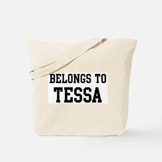 Belongs to Tessa Tote Bag