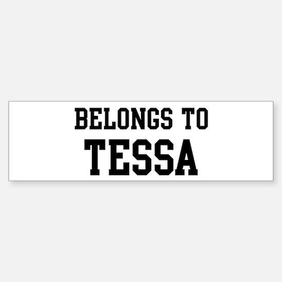Belongs to Tessa Bumper Car Car Sticker