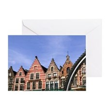 Belgium Great cafes through a bike w Greeting Card