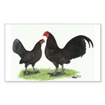 Chocolate OE Bantams Rectangle Sticker