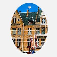 Bruges (aka Brugge). Ascension Day p Oval Ornament
