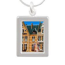 Bruges (aka Brugge). Asc Silver Portrait Necklace