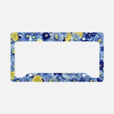 1.04_BLUE-DAISIES License Plate Holder