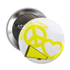 """P,L,Cheer, yellow 2.25"""" Button"""