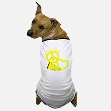 P,L,Cheer, yellow Dog T-Shirt