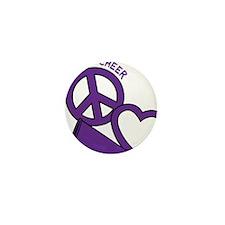 P,L,Cheer, violet Mini Button