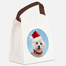 malteseornmnt Canvas Lunch Bag