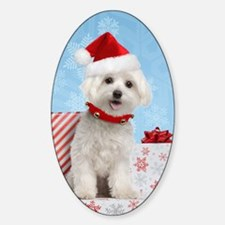maltesechristmasfront Decal