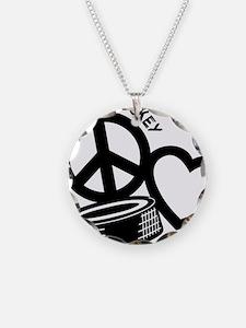 P,L,Hockey, black Necklace