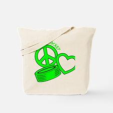 P,L,Hockey, neon green2 Tote Bag