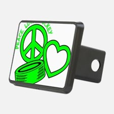 P,L,Hockey, neon green2 Hitch Cover