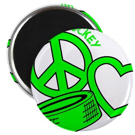 P,L,Hockey, neon green2 Magnet