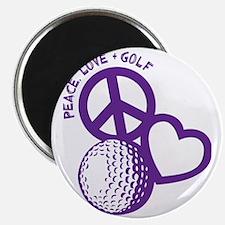 P,L,Golf, violet Magnet