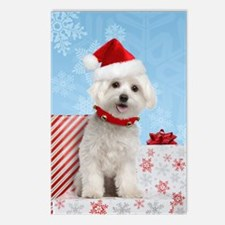 Maltese Christmas Card Postcards (Package of 8)