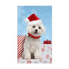 Maltese Christmas Card Decal