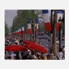 Paris. Champs Elysees and sidewalk s Throw Blanket