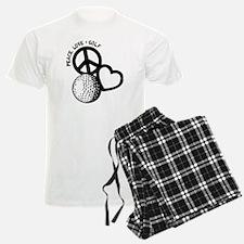 P,L,Golf, black pajamas