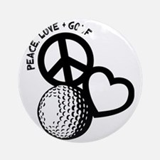 P,L,Golf, black Round Ornament