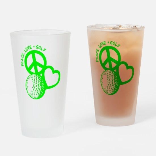 P,L,Golf, neon green Drinking Glass