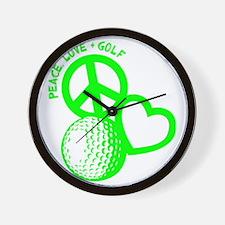 P,L,Golf, neon green Wall Clock