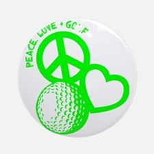 P,L,Golf, neon green Round Ornament