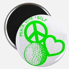 P,L,Golf, neon green Magnet