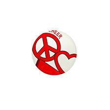P,L,Cheer, red Mini Button