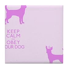 flipfloppink_obey Tile Coaster