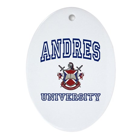 ANDRES University Oval Ornament
