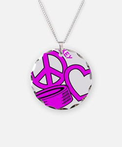 P,L,Hockey, hot pink2 Necklace