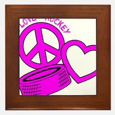 P,L,Hockey, hot pink2 Framed Tile