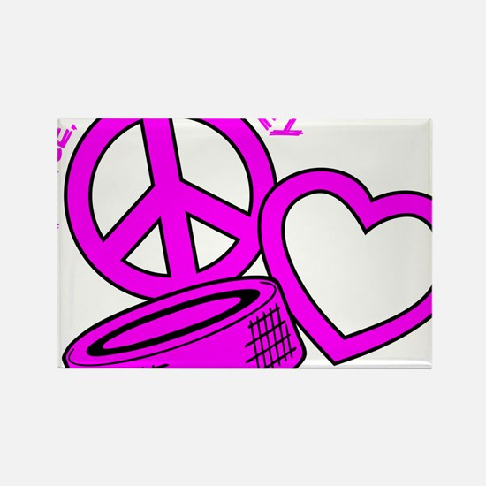 P,L,Hockey, hot pink2 Rectangle Magnet