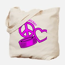 P,L,Hockey, hot pink2 Tote Bag