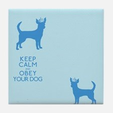 flipflopblue_obey Tile Coaster