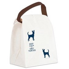 flipfloproyalblue_obey Canvas Lunch Bag