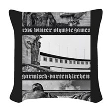 730 gap olympics 16 x 20 Woven Throw Pillow