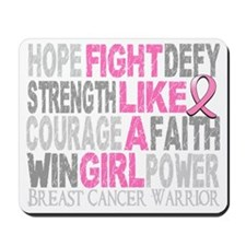 - Fight Like A Girl Breast Cancer 23.4 D Mousepad