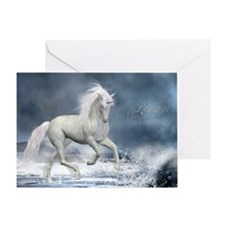 white_unicorn_calendar_print Greeting Card