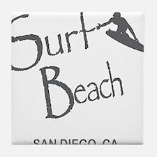 Surf Board Tile Coaster