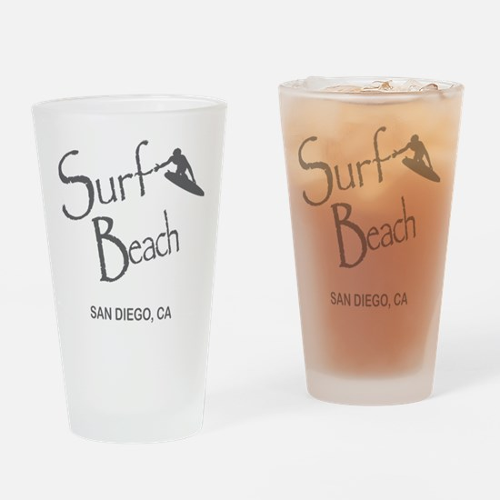 Surf Board Drinking Glass