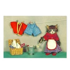 Cleaning Cat Postcards (Package of 8)