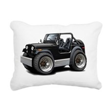 Jeep Black Rectangular Canvas Pillow