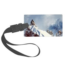 Jagged spires reach for the clou Luggage Tag
