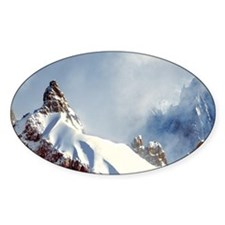 Jagged spires reach for the clouds  Decal