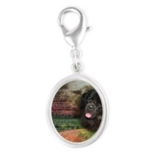 godmadedogs(button) Silver Oval Charm